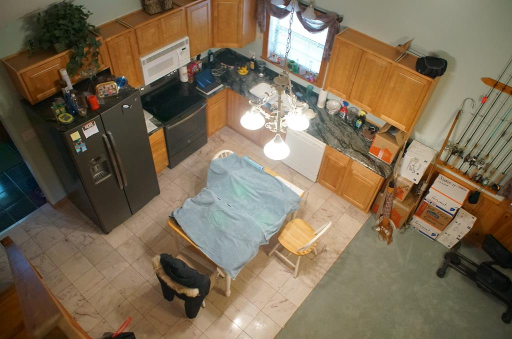 Kitchen aerial view from loft